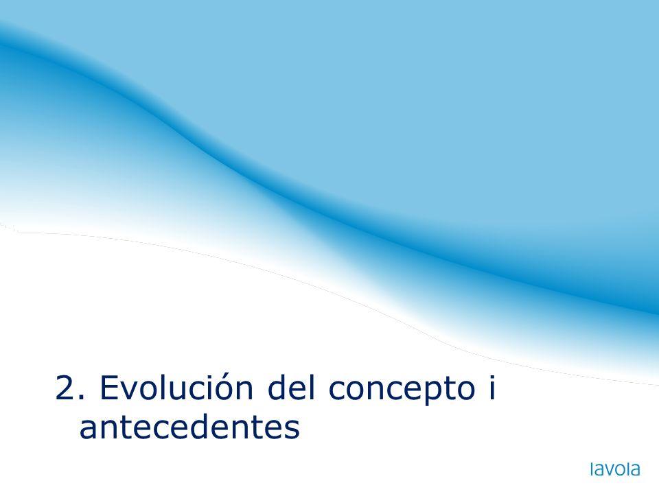 2. Evolución del concepto i antecedentes