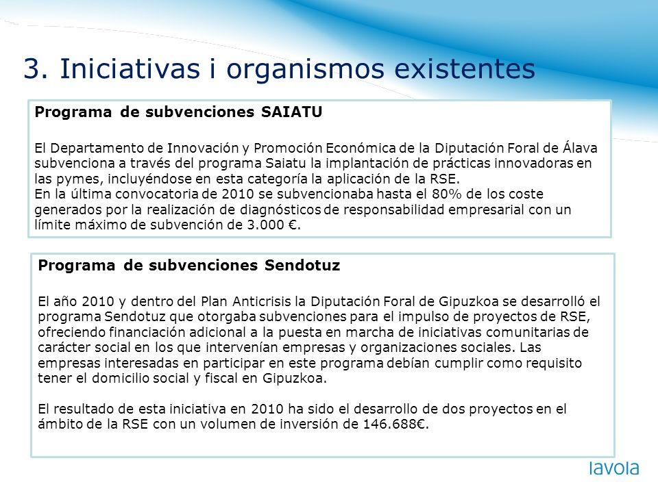 Programa de subvenciones SAIATU El Departamento de Innovación y Promoción Económica de la Diputación Foral de Álava subvenciona a través del programa