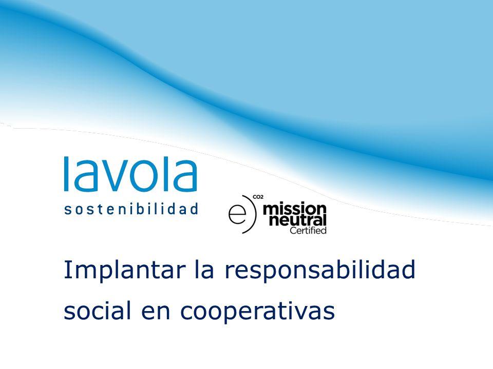 Implantar la responsabilidad social en cooperativas