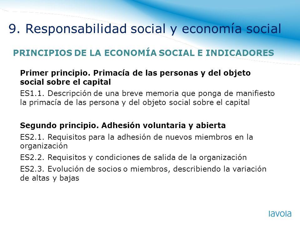 Primer principio. Primacía de las personas y del objeto social sobre el capital ES1.1. Descripción de una breve memoria que ponga de manifiesto la pri