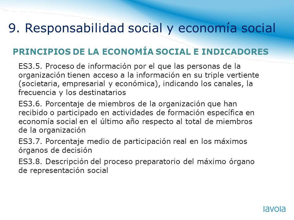 ES3.5. Proceso de información por el que las personas de la organización tienen acceso a la información en su triple vertiente (societaria, empresaria