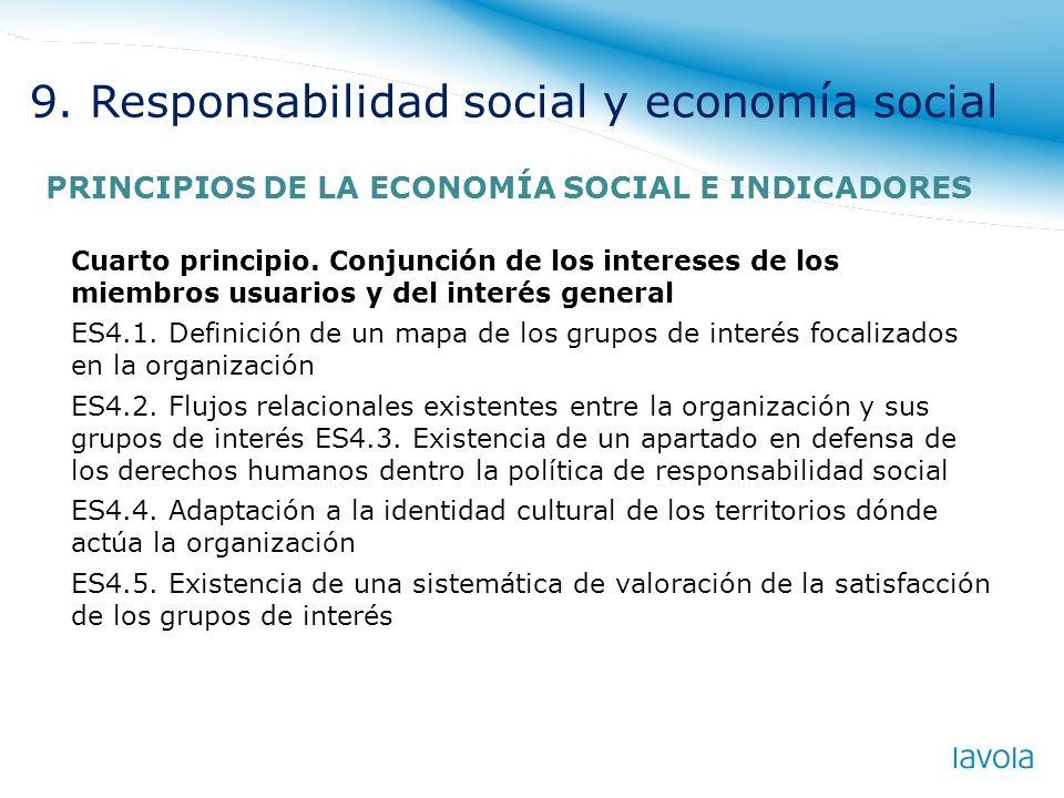 Cuarto principio. Conjunción de los intereses de los miembros usuarios y del interés general ES4.1. Definición de un mapa de los grupos de interés foc