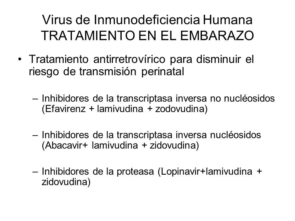 Tratamiento antirretrovírico para disminuir el riesgo de transmisión perinatal –Inhibidores de la transcriptasa inversa no nucléosidos (Efavirenz + la