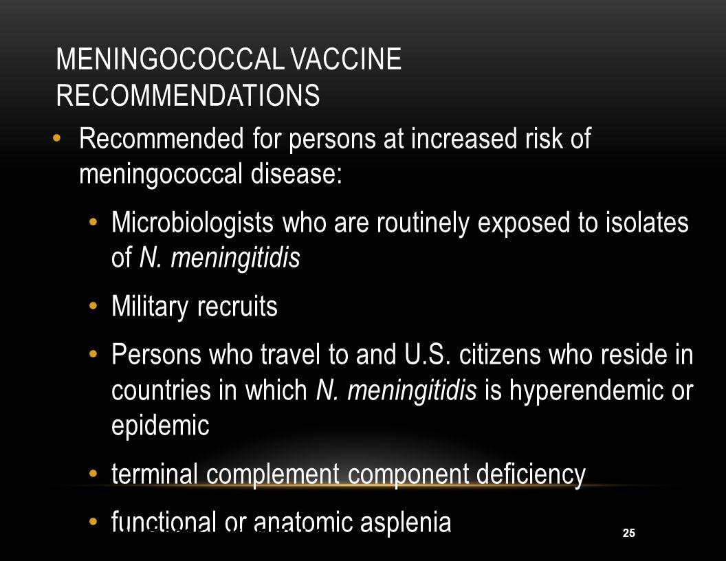 26 Meningococcal Endemic Areas 2004