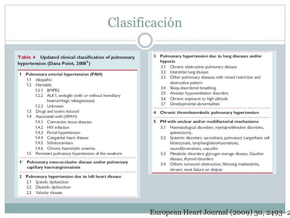Clasificación European Heart Journal (2009) 30, 2493–2537