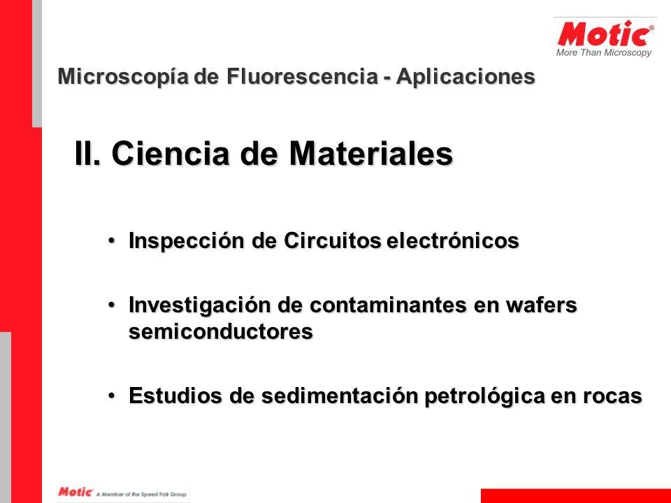 II. Ciencia de Materiales Inspección de Circuitos electrónicosInspección de Circuitos electrónicos Investigación de contaminantes en wafers semiconduc