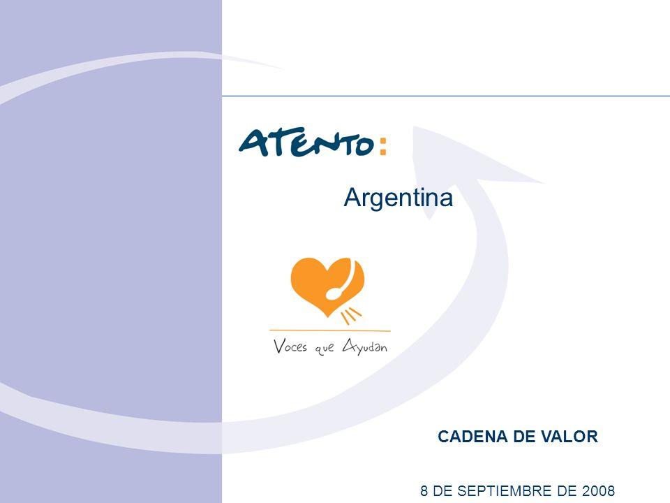 CADENA DE VALOR 8 DE SEPTIEMBRE DE 2008 Argentina