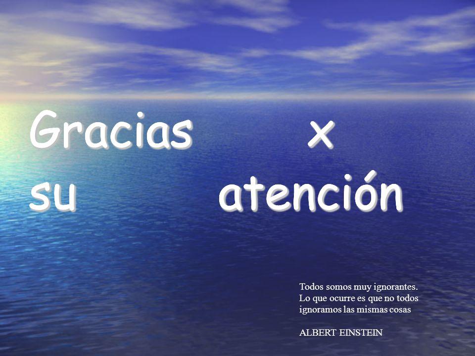 Gracias x su atención Gracias x su atención Gracias x su atención Todos somos muy ignorantes. Lo que ocurre es que no todos ignoramos las mismas cosas