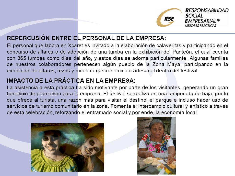REPERCUSIÓN ENTRE EL PERSONAL DE LA EMPRESA: El personal que labora en Xcaret es invitado a la elaboración de calaveritas y participando en el concurs