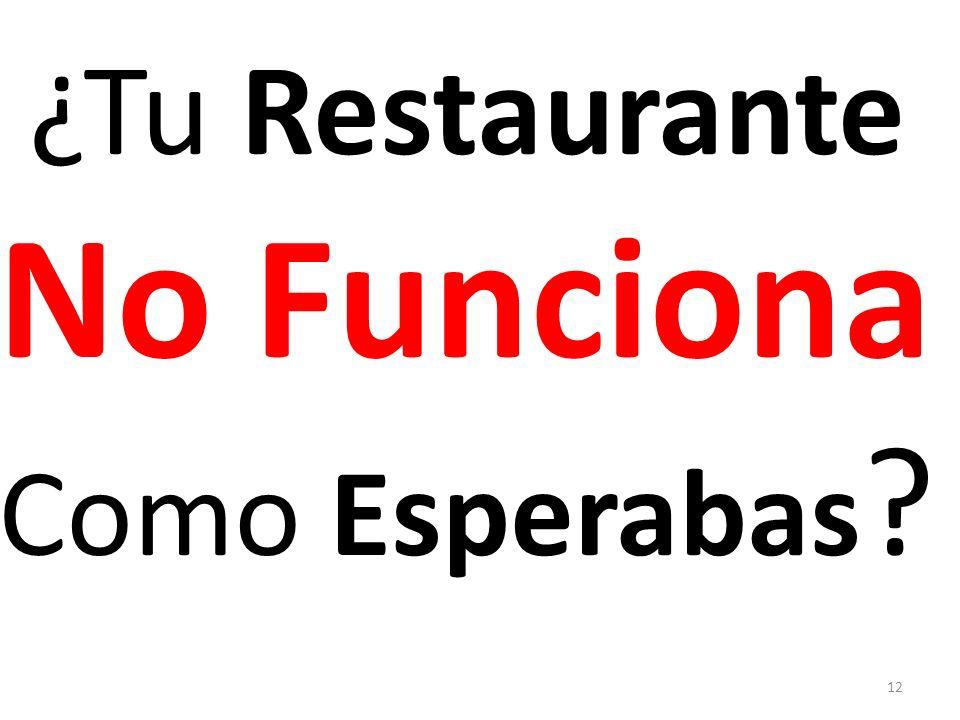 ¿Tu Restaurante No Funciona Como Esperabas ? 12