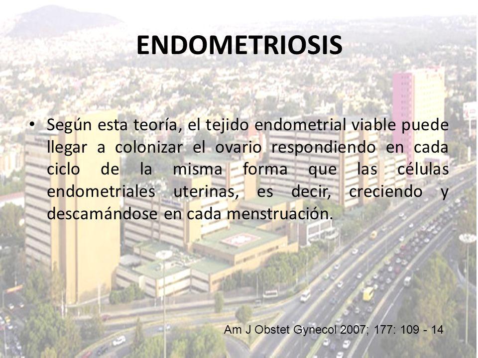 Según esta teoría, el tejido endometrial viable puede llegar a colonizar el ovario respondiendo en cada ciclo de la misma forma que las células endome