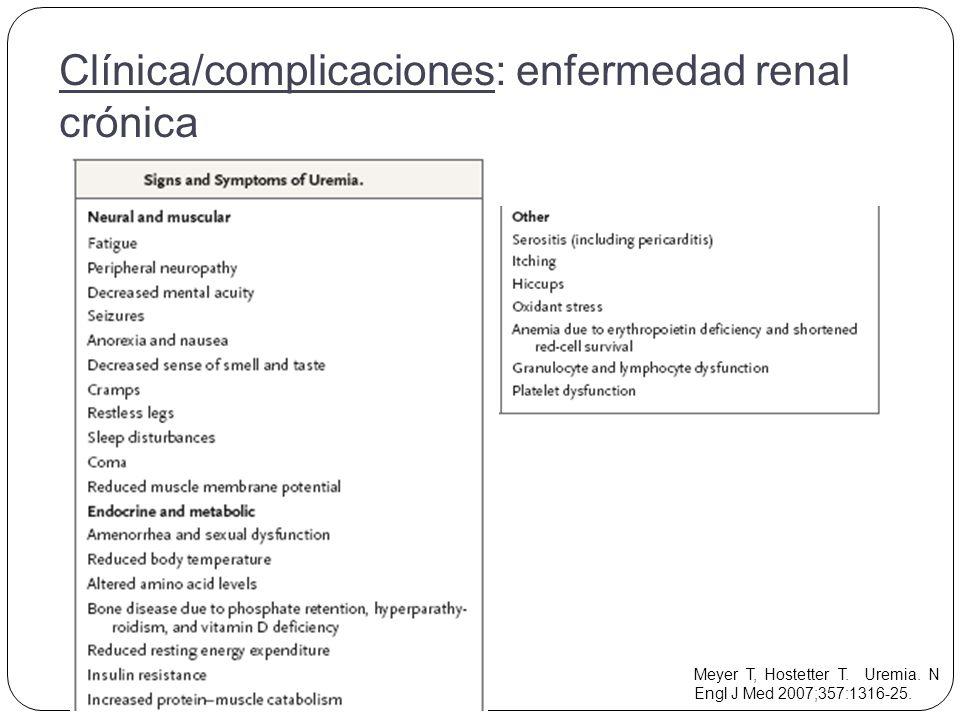 Meyer T, Hostetter T. Uremia. N Engl J Med 2007;357:1316-25.