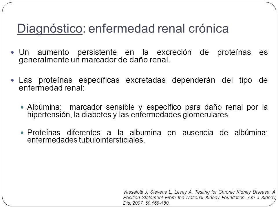 Un aumento persistente en la excreción de proteínas es generalmente un marcador de daño renal.