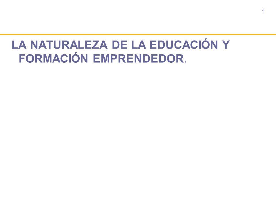 4 LA NATURALEZA DE LA EDUCACIÓN Y FORMACIÓN EMPRENDEDOR.
