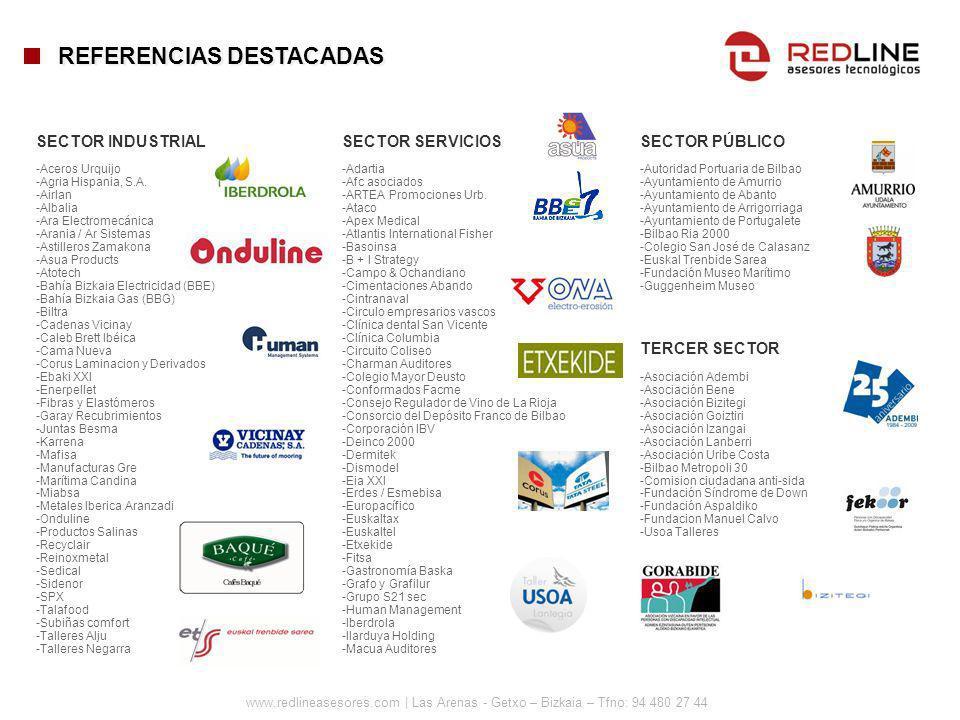 www.redlineasesores.com | Las Arenas - Getxo – Bizkaia – Tfno: 94 480 27 44 SECTOR INDUSTRIAL -Aceros Urquijo -Agria Hispania, S.A. -Airlan -Albalia -