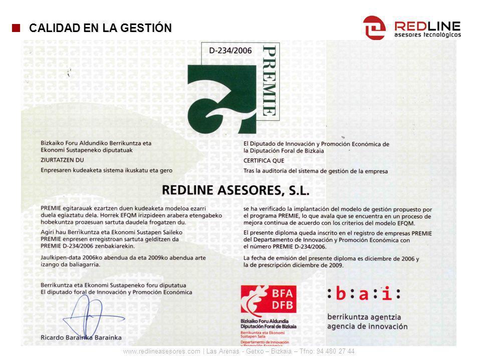 www.redlineasesores.com | Las Arenas - Getxo – Bizkaia – Tfno: 94 480 27 44 CALIDAD EN LA GESTIÓN