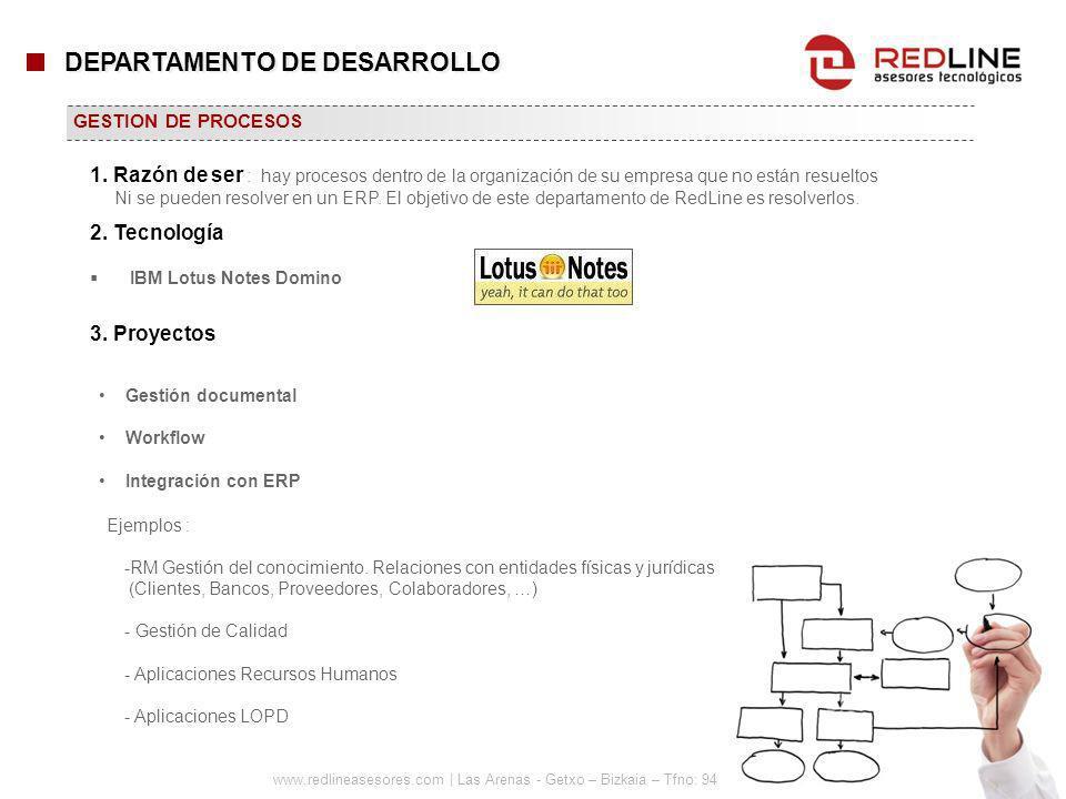 www.redlineasesores.com | Las Arenas - Getxo – Bizkaia – Tfno: 94 480 27 44 IBM Lotus Notes Domino GESTION DE PROCESOS Gestión documental Workflow Int