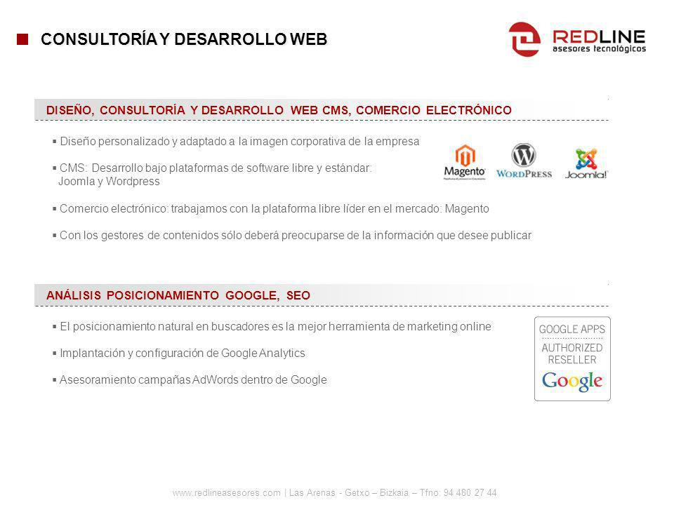 www.redlineasesores.com | Las Arenas - Getxo – Bizkaia – Tfno: 94 480 27 44 DISEÑO, CONSULTORÍA Y DESARROLLO WEB CMS, COMERCIO ELECTRÓNICO CONSULTORÍA