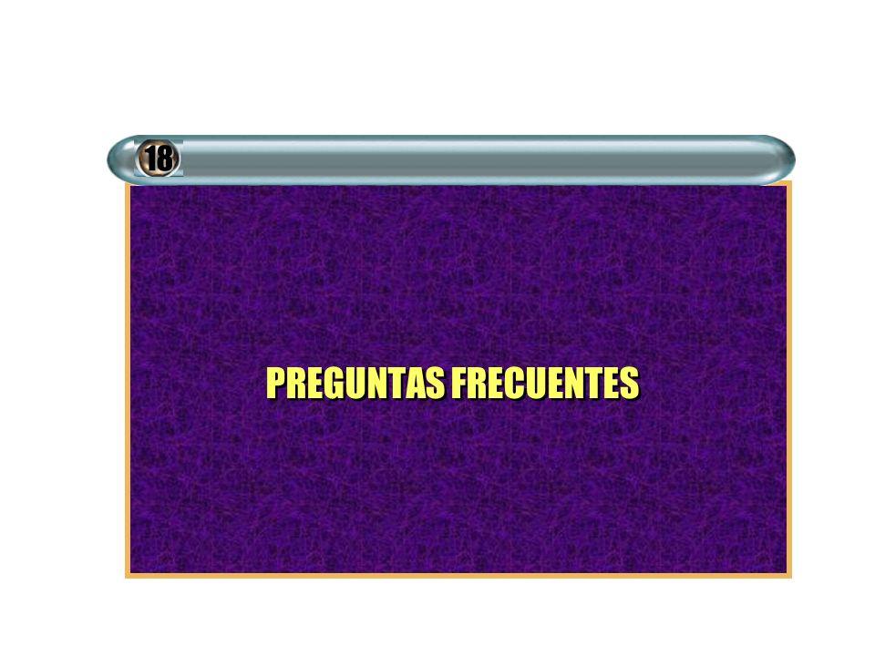 PREGUNTAS FRECUENTES 18