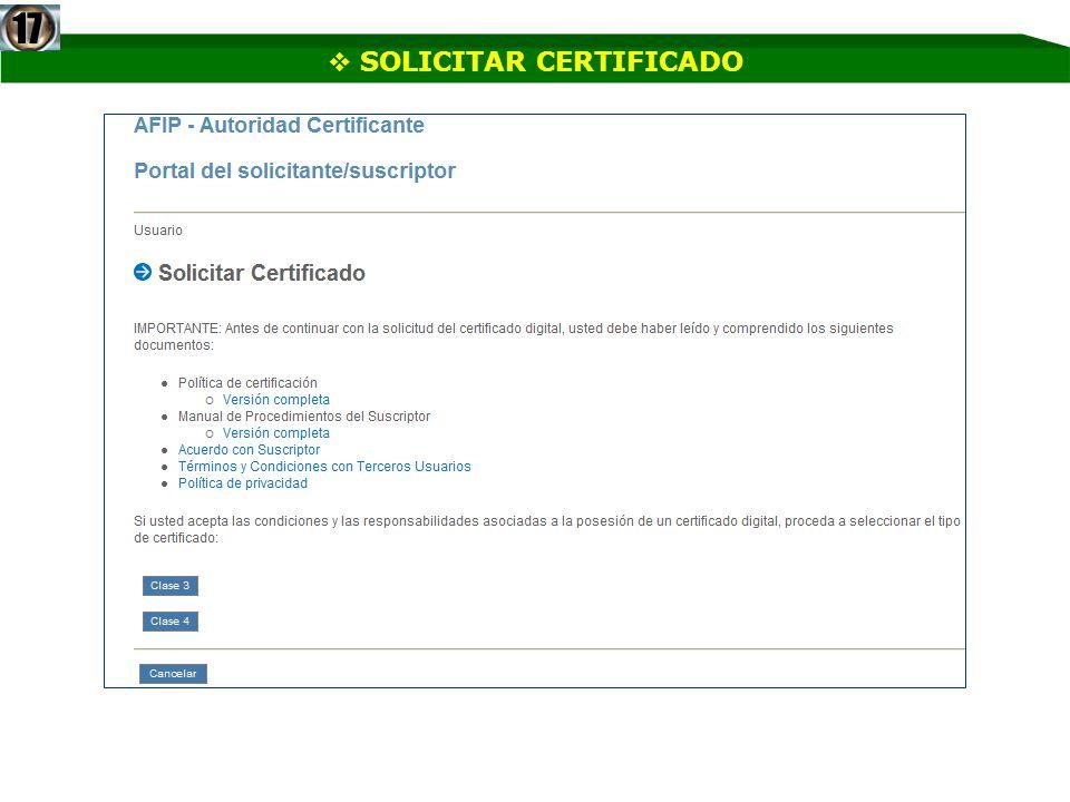 SOLICITAR CERTIFICADO17