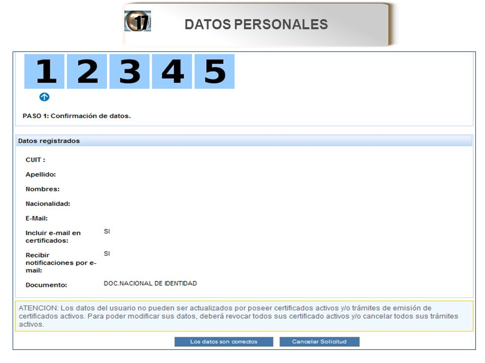 DATOS PERSONALES17