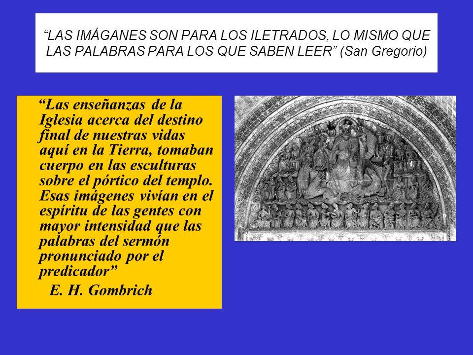 EL PÓRTICO DE LA GLORIA DE LA CATEDRAL DE SANTIAGO DE COMPOSTELA (interior de la fachada oeste) Es el genial anticipo del gótico, a la vez que la culminación de la maestría de la estatuaria románica.