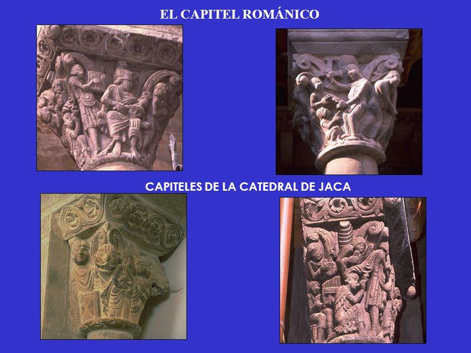 EL CAPITEL ROMÁNICO CAPITELES DE LA CATEDRAL DE JACA