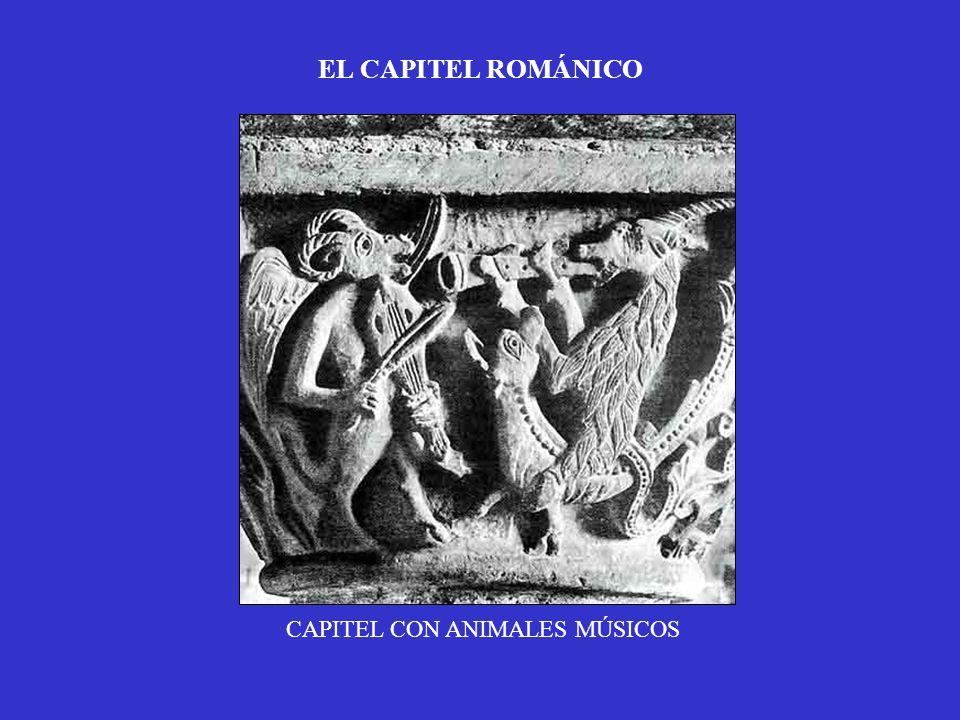 EL CAPITEL ROMÁNICO CAPITEL CON ANIMALES MÚSICOS