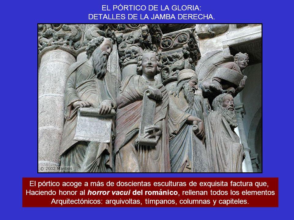 EL PÓRTICO DE LA GLORIA: DETALLE DE LA JAMBA DERECHA.