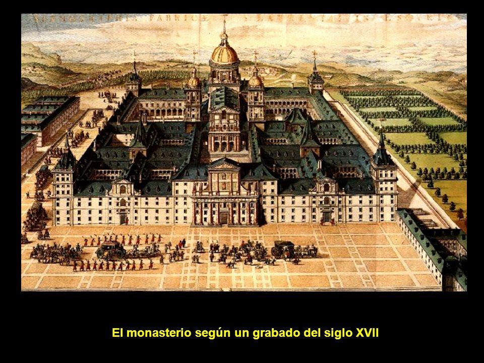 El Patio de los Reyes: pórtico de la Basílica y las dos torres que flanquean la fachada.