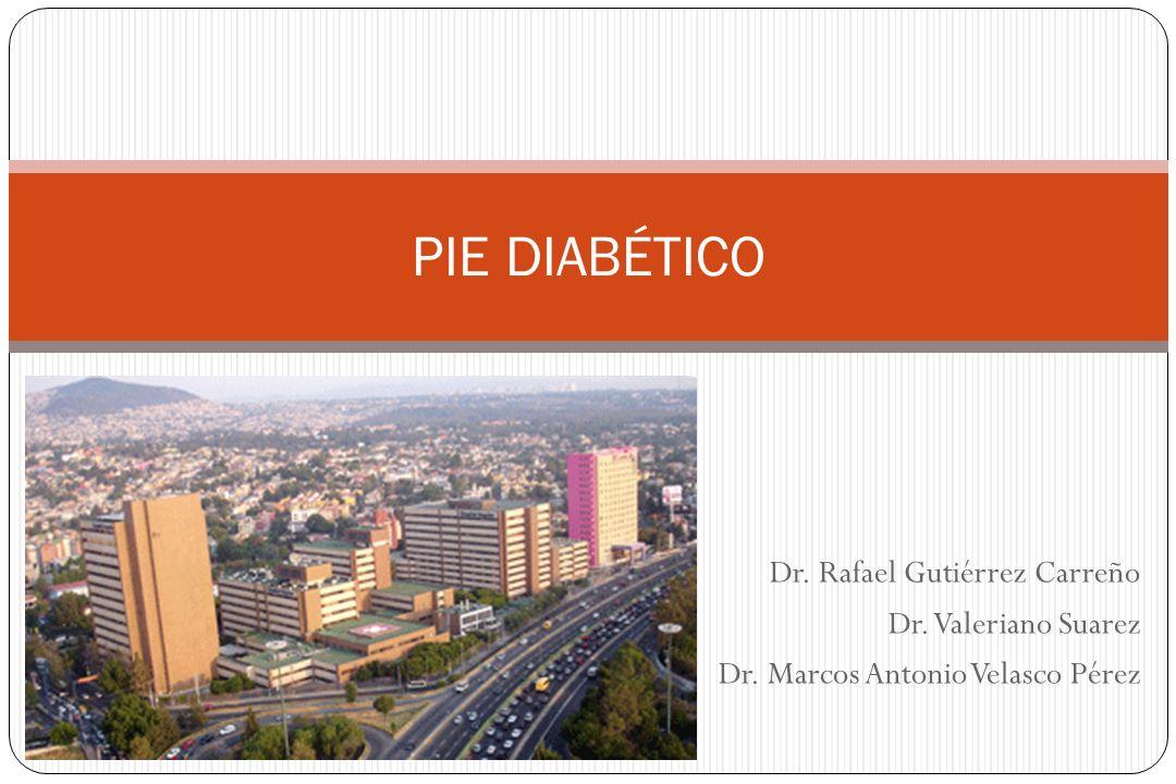 Pie diabético Valoración vascular Pulsos Pérdida de anexos cutáneos Atrofia cutánea y muscular USG doppler Angiorresonancia Angiografía Faries P et al.Am J Surg 2004; 187:34S–37S