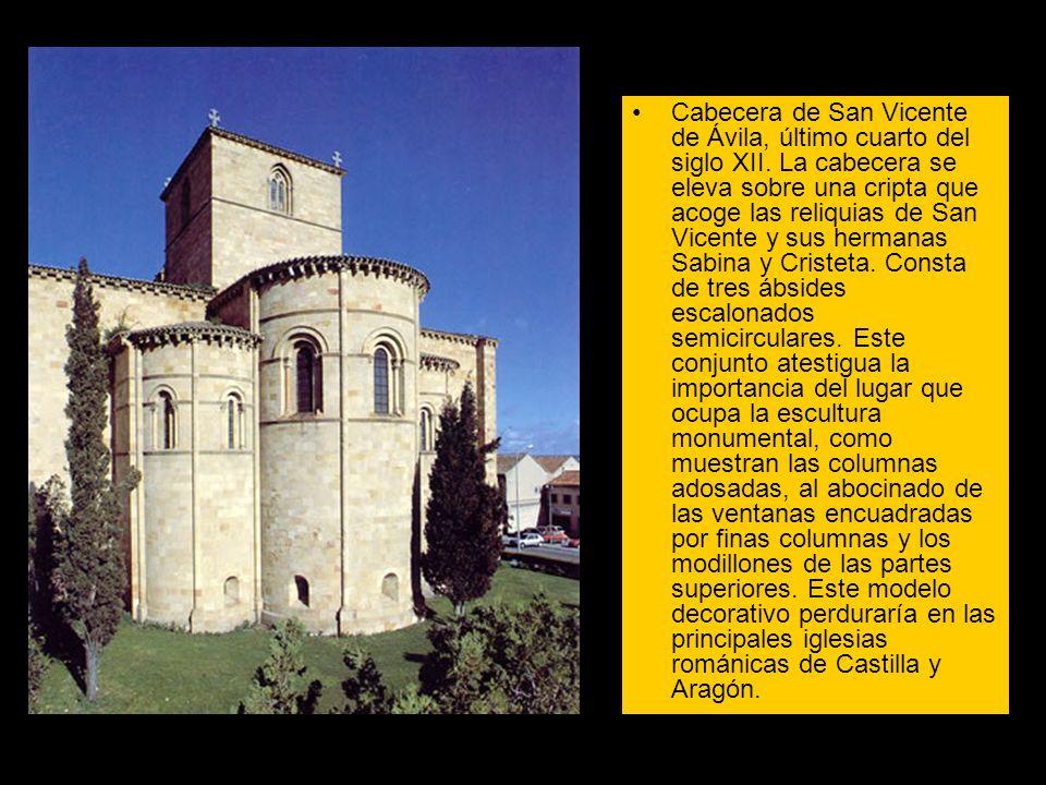 Cabecera de San Vicente de Ávila, último cuarto del siglo XII. La cabecera se eleva sobre una cripta que acoge las reliquias de San Vicente y sus herm