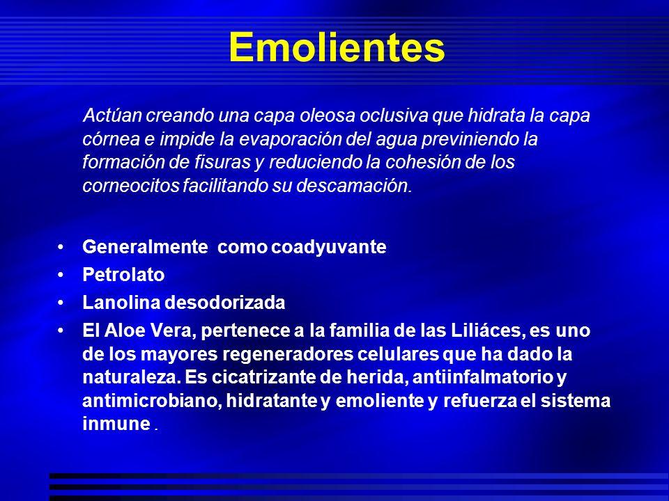 Inhibidores de la Calcineurina Pimecrolimus 0.3-1 % crema Tacrolimus 0.3 % unguento Bajo oclusión Superior a calcipotriol,menor que betametasona Principalmente en áreas flexurales y Cara