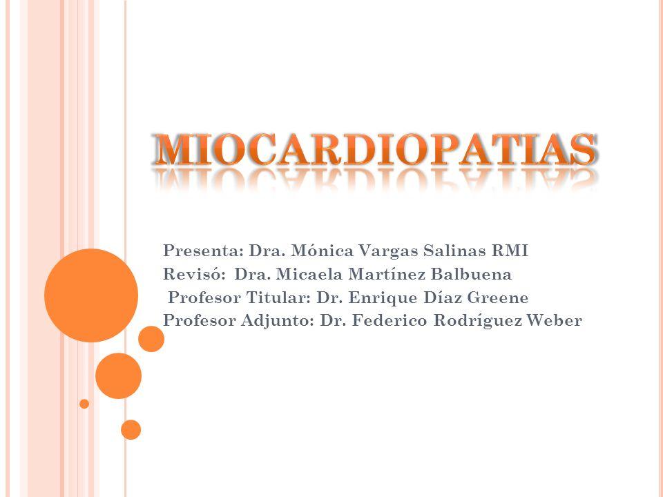Enfermedades que afectan al músculo cardíaco Dilatación Hipertrofia Restricticción Dos formas Primaria : causa desconocida Secundaria : asociada a una patología Guadalajara.Cardiologia.