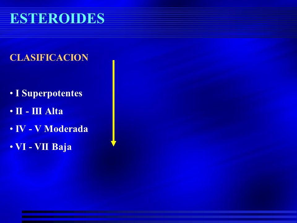 Esteroides tópicos VEHÍCULO.- –Regula la cantidad de esteroide liberado al área a tratar.