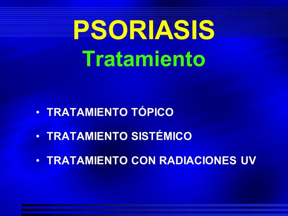 PSORIASIS Tratamiento sistémico Luz ultravioleta (solar / UVB – UVB banda corta).