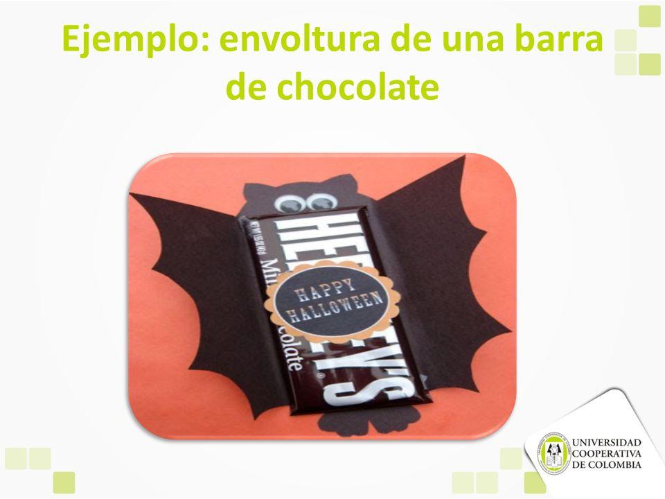 Ejemplo: envoltura de una barra de chocolate
