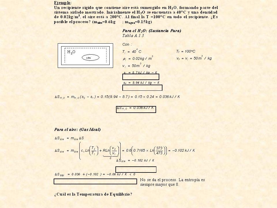 11.9- Rendimiento Isoentrópico ( o adiabático) Turbina adiabática: Es una medida de la eficiencia de alguna máquina que no opera cíclicamente; es decir, siguiendo un proceso adiabático.