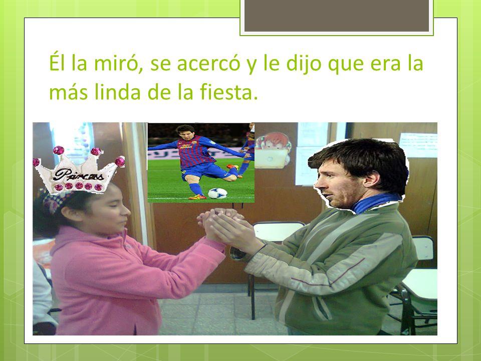 Cuando llegó al shopping se encontró con Lionel Messi, que para ella era su sueño, su gran amor.