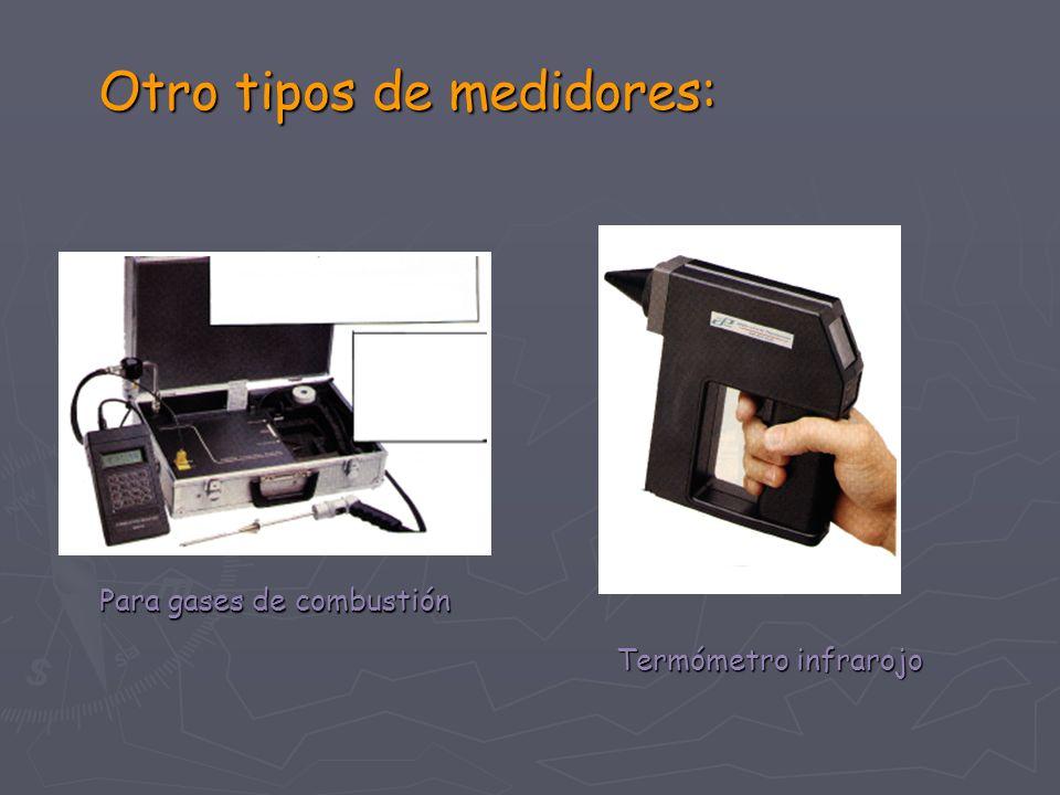 Otro tipos de medidores: Termómetro infrarojo Para gases de combustión