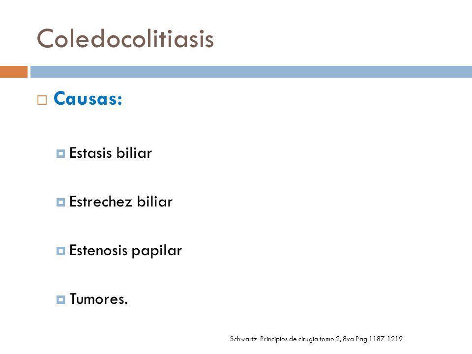Cuadro clínico: Colangitis, pancreatitis por cálculo biliar.