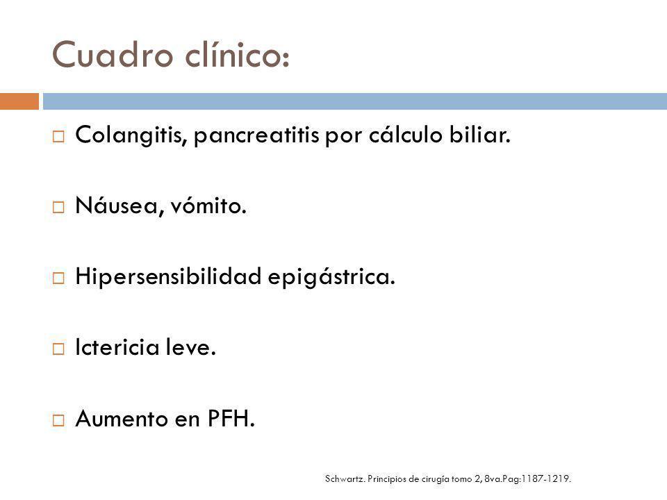 Diagnostico: USG CPRE (estándar *) Más de 90% de canulación ampula de Vater.
