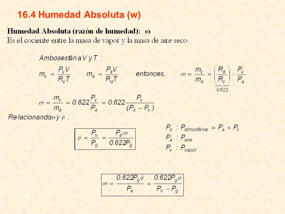 16.4 Humedad Absoluta (w)