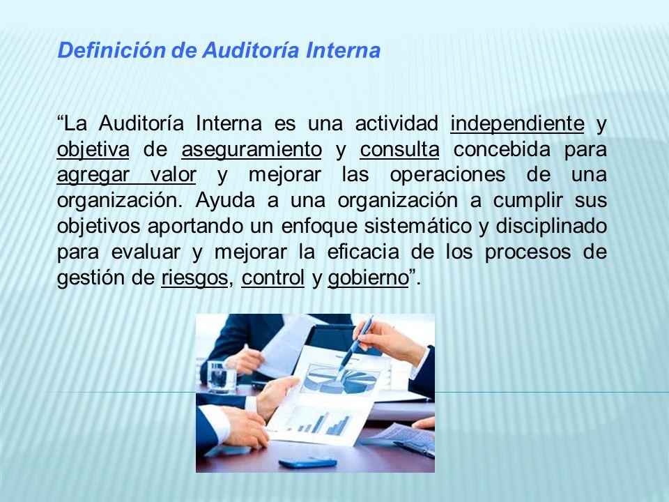 Independencia El Director de Auditoría Interna (DAI) ha de depender directamente del Consejo de Administración, para poder ser independiente con respecto de la Dirección.