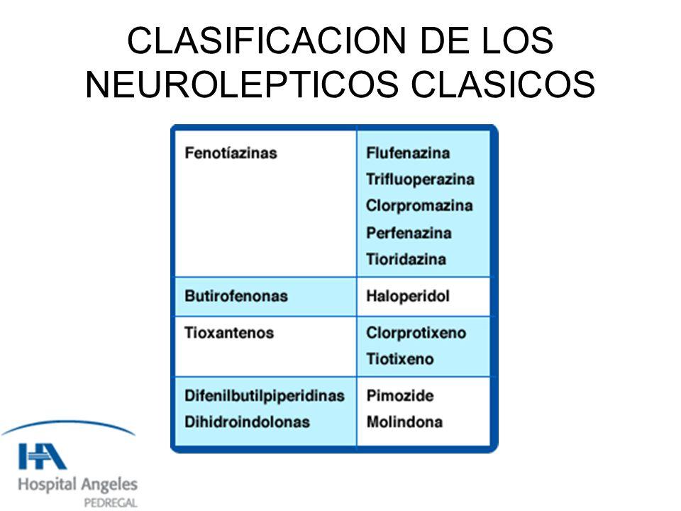 PROPIEDADES DIFERENCIALES DE LOS NEUROLÉPTICOS ATIPICOS * Menor propensión a producir efectos extrapiramidales, incluida la discinesia tardia.