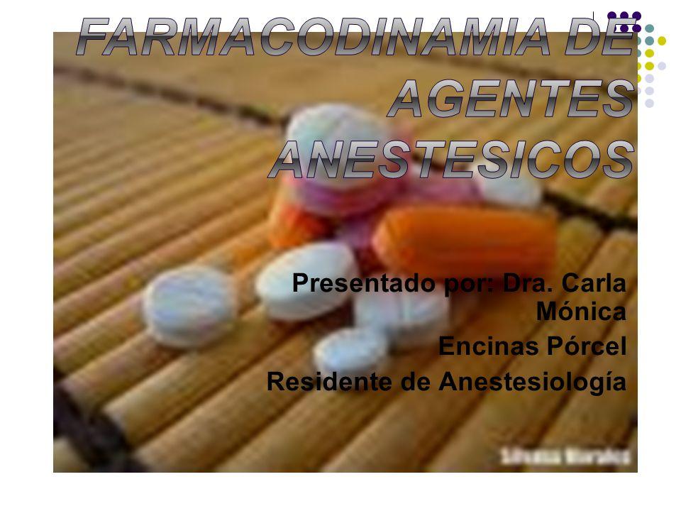 Presentado por: Dra. Carla Mónica Encinas Pórcel Residente de Anestesiología