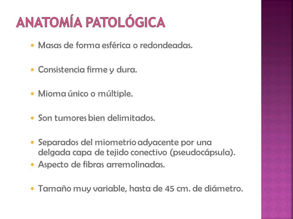 - Disfunción por compresión uretral o vesical.- Policitemia, eritrocitosis, leucocitosis, fiebre.