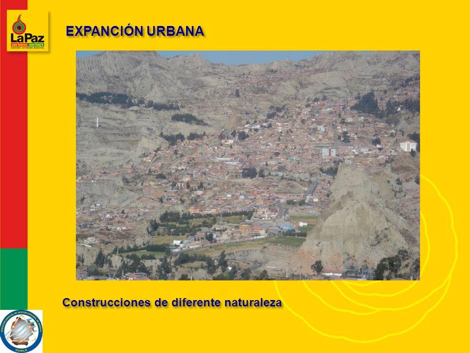 EXPANCIÓN URBANA Construcciones de diferente naturaleza