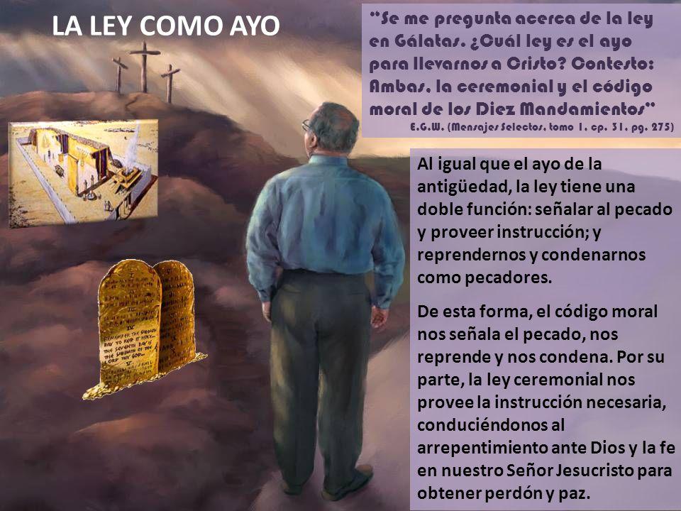 Pero venida la fe, ya no estamos bajo ayo (Gálatas, 3: 25) ¿Y qué sucedió en realidad a los hijos de Dios -en lo que se refiere a la ley, que fue nuestro ayo - cuando vino Cristo.