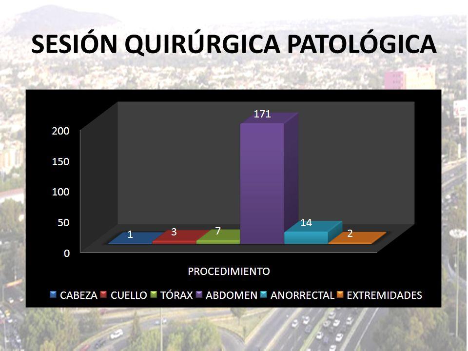 MORBILIDAD: LAPAROTOMÍA EXPLORADORA + HEMICOLECTOMÍA DERECHA + ILEOSTOMÍA.